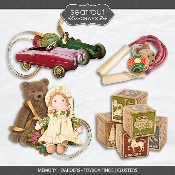 Memory Hoarders Toybox Finds - Clusters Digital Art - Digital Scrapbooking Kits