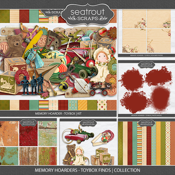 Memory Hoarders Toybox Finds - Collection Digital Art - Digital Scrapbooking Kits