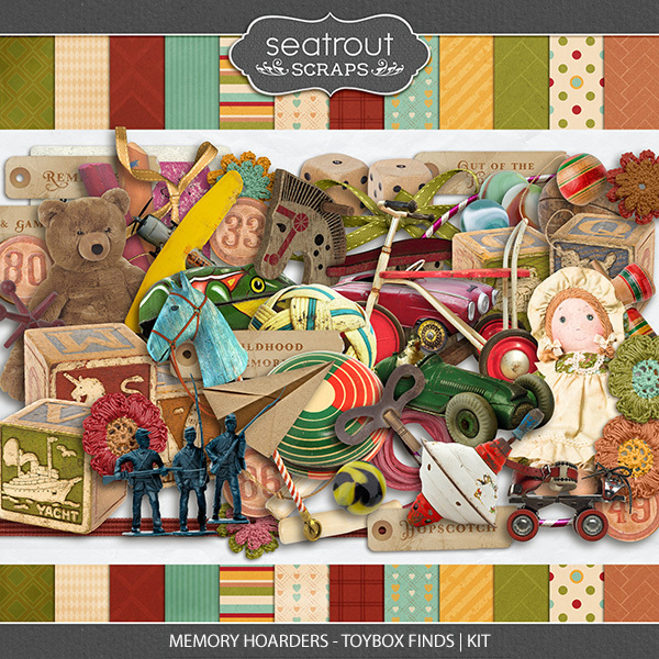 Memory Hoarders Toybox Finds - Kit Digital Art - Digital Scrapbooking Kits