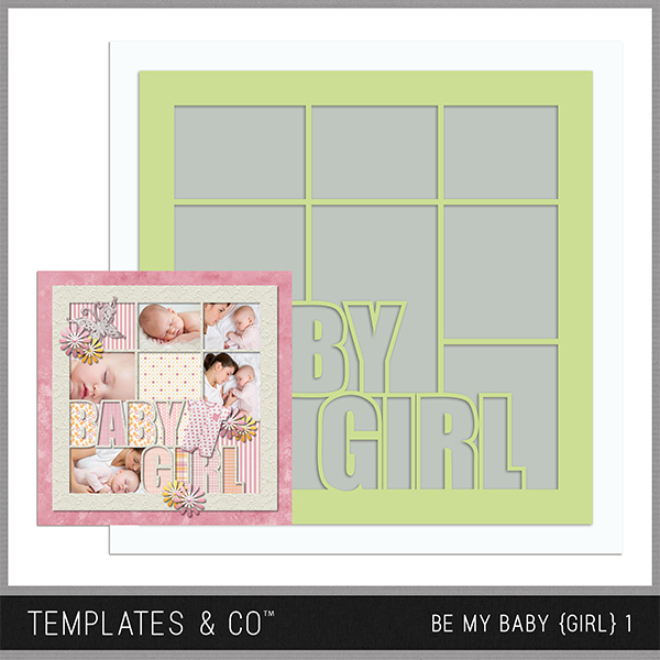 Be My Baby Girl 1 Digital Art - Digital Scrapbooking Kits