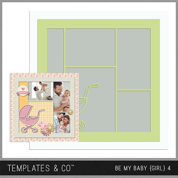Be My Baby Girl 4 Digital Art - Digital Scrapbooking Kits