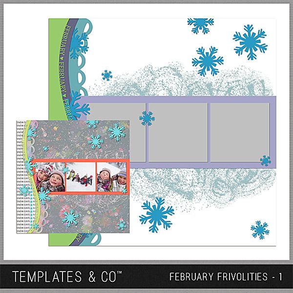 February Frivolities 1 Digital Art - Digital Scrapbooking Kits
