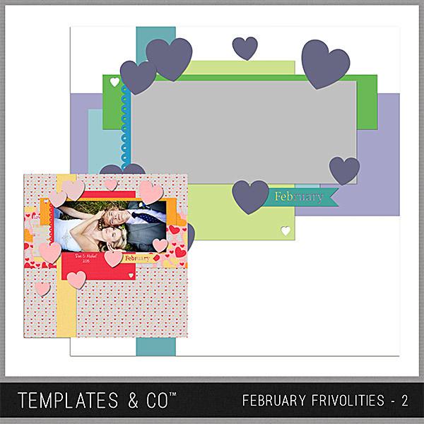 February Frivolities 2 Digital Art - Digital Scrapbooking Kits