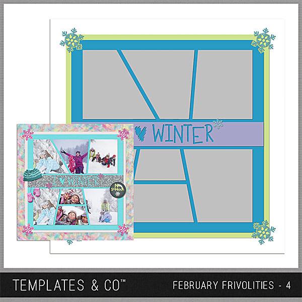 February Frivolities 4 Digital Art - Digital Scrapbooking Kits