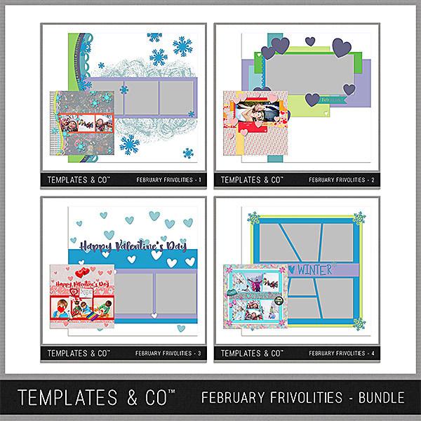 February Frivolities Bundle Digital Art - Digital Scrapbooking Kits