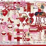 My Vintage Valentine Scrapbooking Bundle