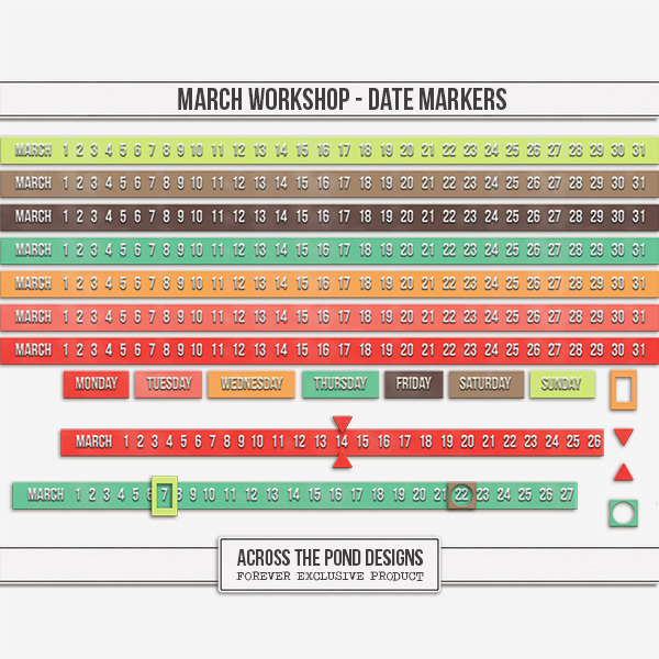 March Workshop - Date Markers