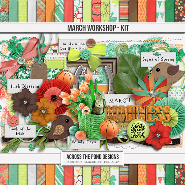 March Workshop - Page Kit