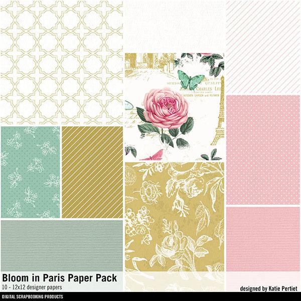 Bloom In Paris Paper Pack