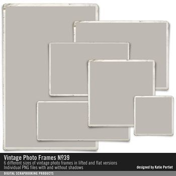 Vintage Photo Frames No. 39 Digital Art - Digital Scrapbooking Kits