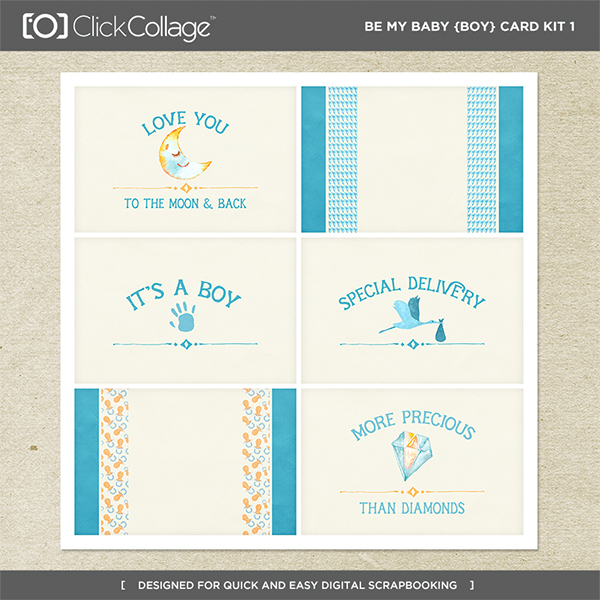 Be My Baby Boy Card Kit 1