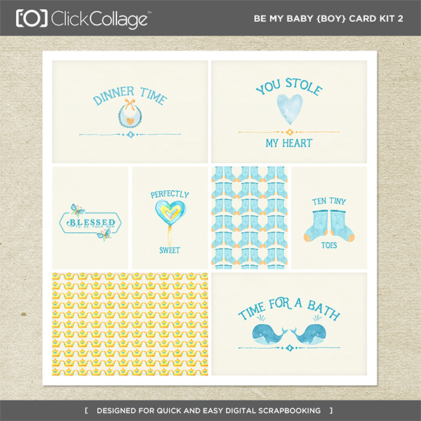 Be My Baby Boy Card Kit 2