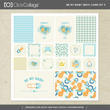 Be My Baby Boy Card Kit 3