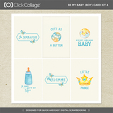 Be My Baby Boy Card Kit 4