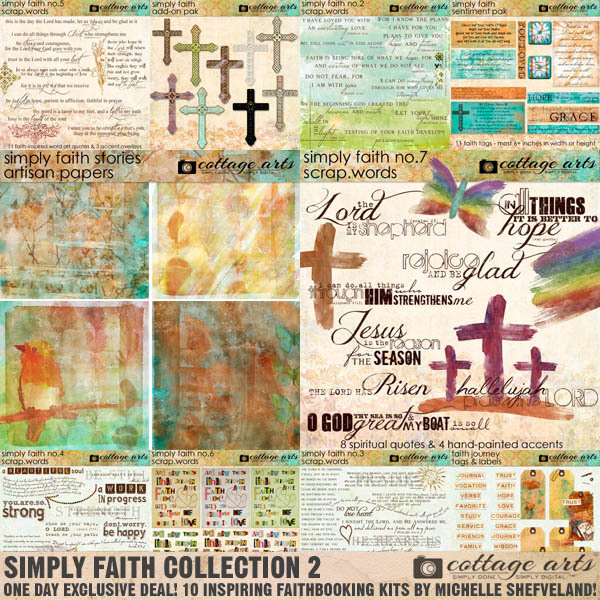 Simply Faith Collection 2 Exclusive Bundle Digital Art - Digital Scrapbooking Kits
