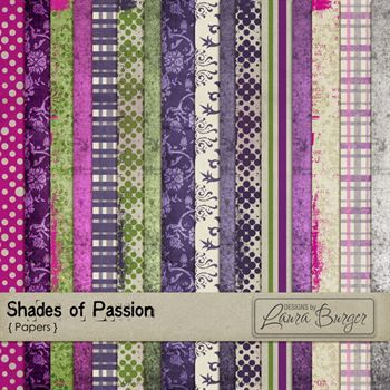 Shades Of Passion Pattern Papers