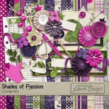 Shades Of Passion Scrap Kit