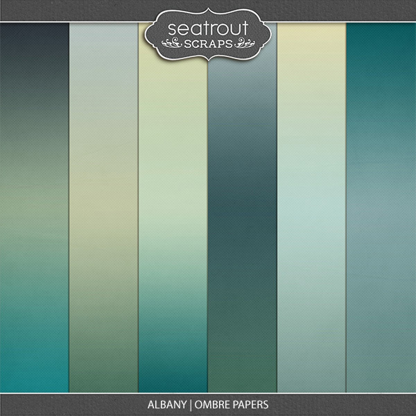 Albany Ombre Papers Digital Art - Digital Scrapbooking Kits