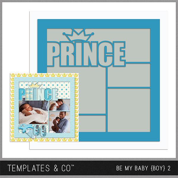 Be My Baby Boy 2 Digital Art - Digital Scrapbooking Kits