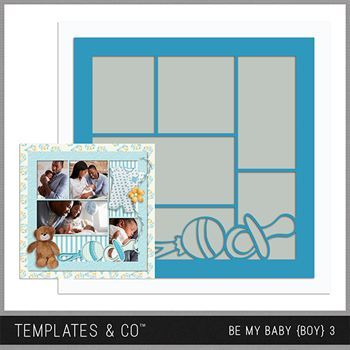 Be My Baby Boy 3 Digital Art - Digital Scrapbooking Kits
