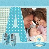 Be My Baby Boy Pre-designed ABC Book
