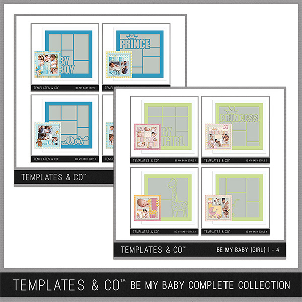Be My Baby Complete Collection Digital Art - Digital Scrapbooking Kits