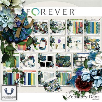 February Days Jumbo Bundle Digital Art - Digital Scrapbooking Kits