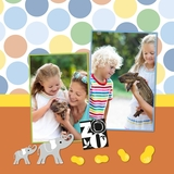 Cheerful Zoo 12x12 Predesigned Pages