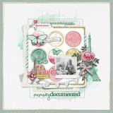 Bloom In Paris Scrapbook Mini Kit