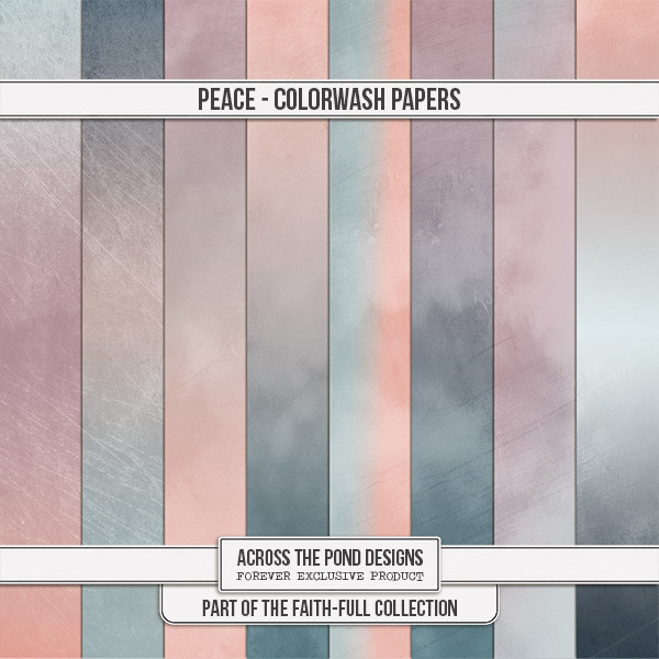 Faithfull Series - Peace - Colorwash Papers