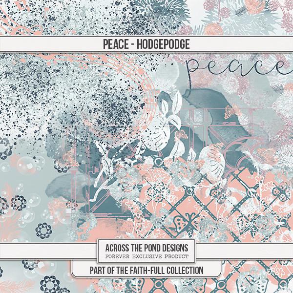 Faithfull Series - Peace - Splats Digital Art - Digital Scrapbooking Kits