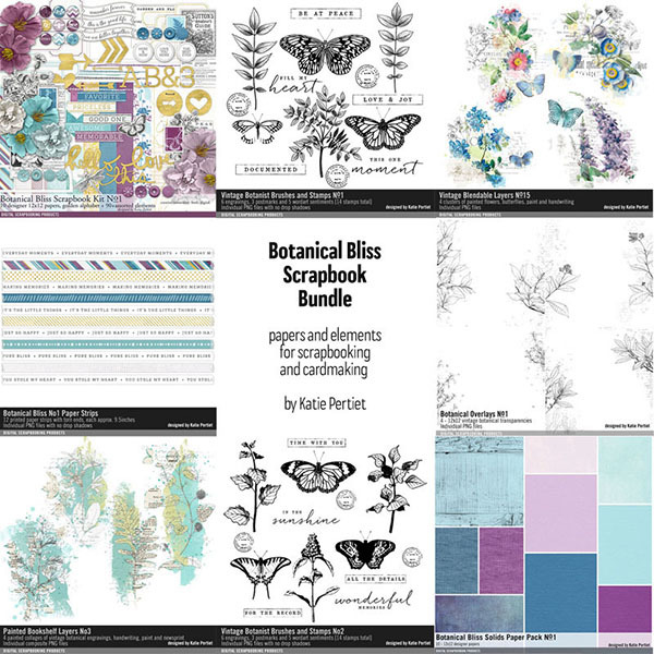 Botanical Bliss Scrapbooking Kit Bundle