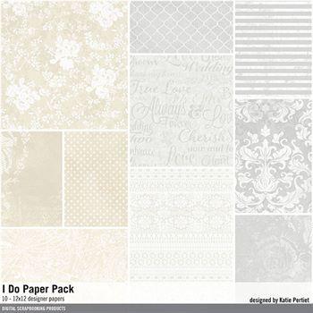 I Do Paper Pack Digital Art - Digital Scrapbooking Kits