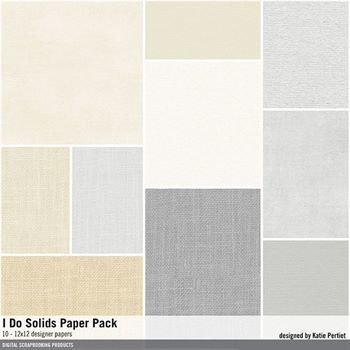 I Do Solids Paper Pack Digital Art - Digital Scrapbooking Kits