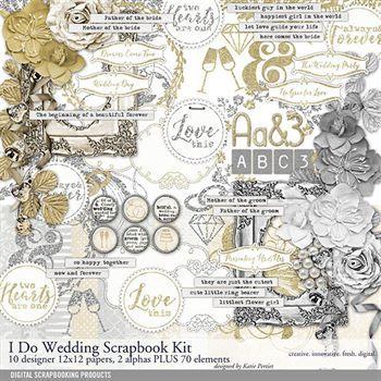 I Do Wedding Scrapbooking Kit Digital Art - Digital Scrapbooking Kits
