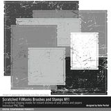 Scratched Filmasks Brushes And Stamps No. 01