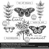 Vintage Botanist Brushes And Stamps No. 01