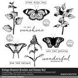 Vintage Botanist Brushes And Stamps No. 02
