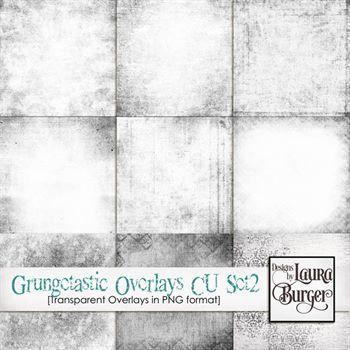 Grungetastic Overlays Set 2 Digital Art - Digital Scrapbooking Kits