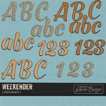 Weekender Alphabet Sets