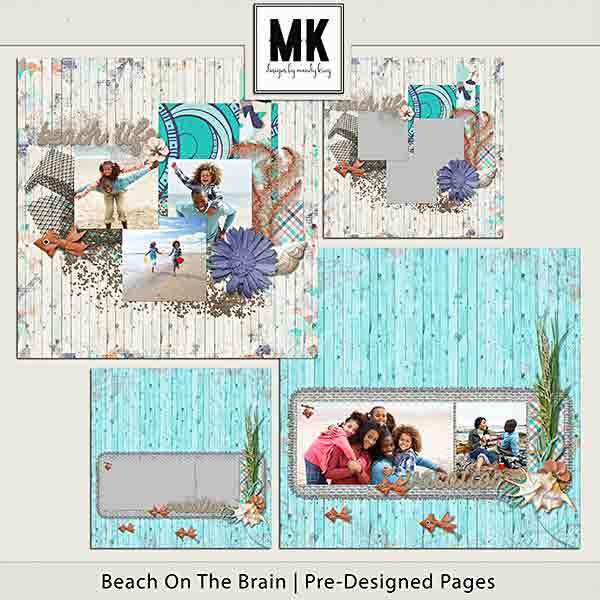Beach On The Brain Pre-designed Pages