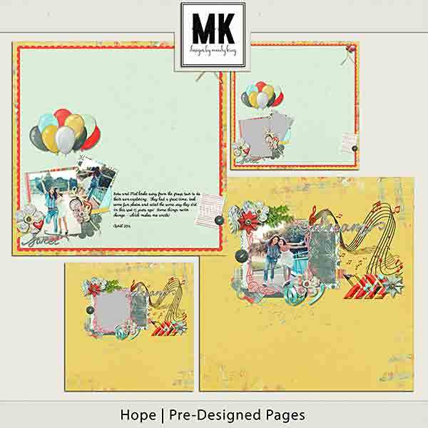 Hope Pre-designed Pages