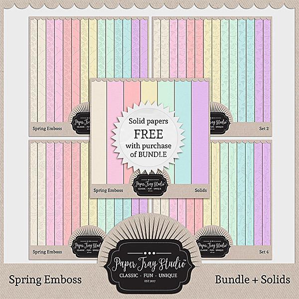 Spring Emboss - Bundle Digital Art - Digital Scrapbooking Kits