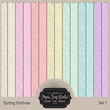 Spring Emboss - Set 1