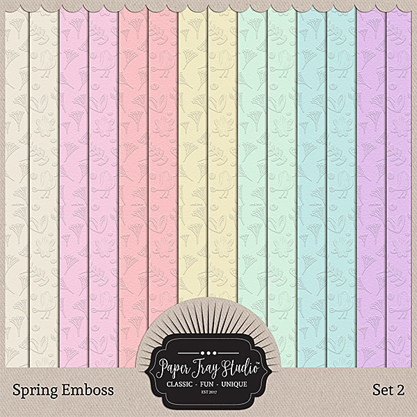 Spring Emboss - Set 2 Digital Art - Digital Scrapbooking Kits