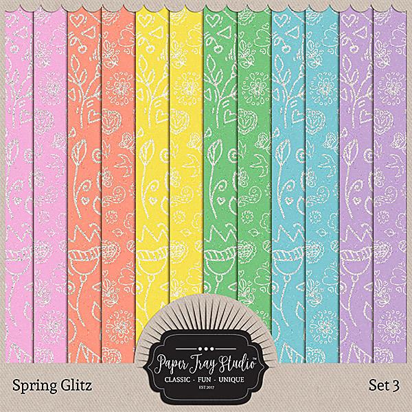 Spring Glitz - Set 3 Digital Art - Digital Scrapbooking Kits