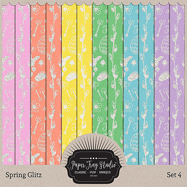 Spring Glitz - Set 4 Digital Art - Digital Scrapbooking Kits