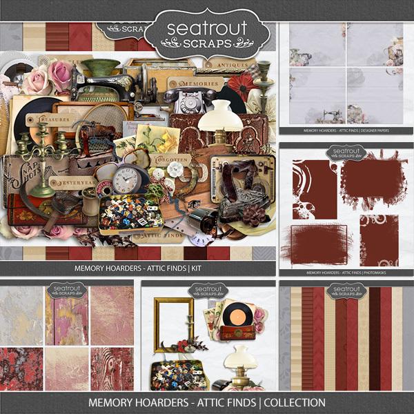 Memory Hoarders - Attic Finds Collection Digital Art - Digital Scrapbooking Kits