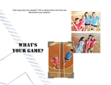 Ten Questions Sports 11x8.5 Predesigned Pages