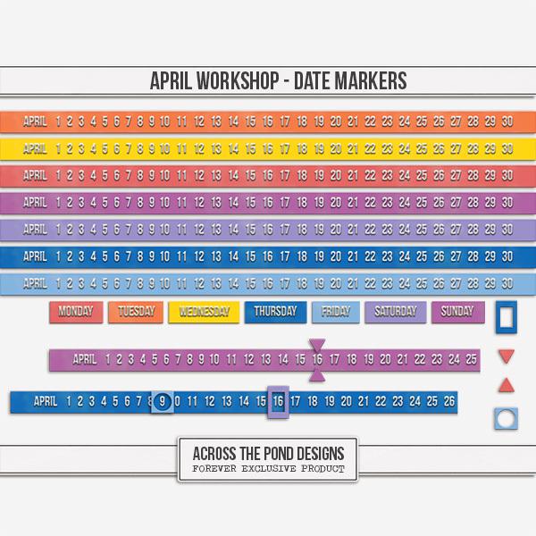 April Workshop - Date Markers